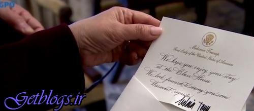 عکس) + نامه خوشآمدگویی ملانیا ترامپ به نتانیاهو (