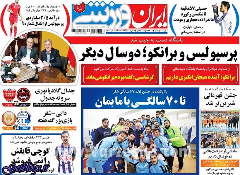 همین نتیجه های از سرتان هم زیاد است! ، عکس صفحه نخست روزنامه های ورزشی امروز 96.10.21