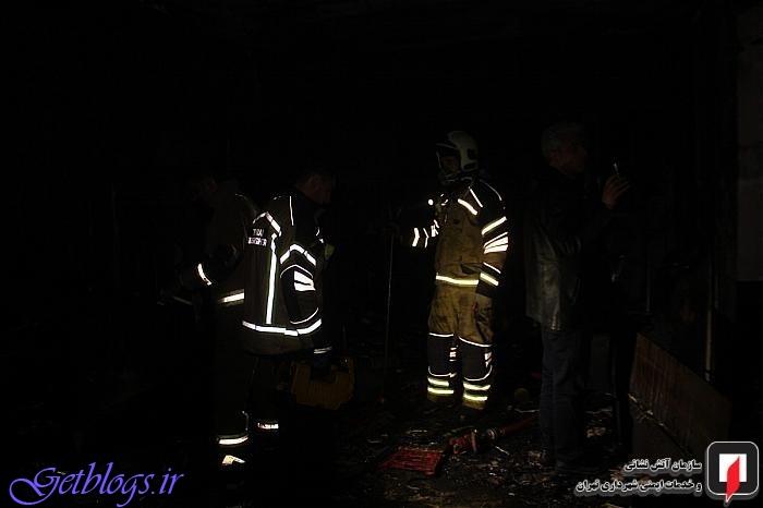 تصاویر ، آتشسوزی آرایشگاه خانمانه در خیابان آیتالله کاشانی