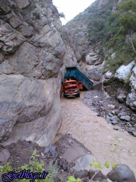 سقوط مرگبار کامیون در بزرگراه آلاشت سوادکوه
