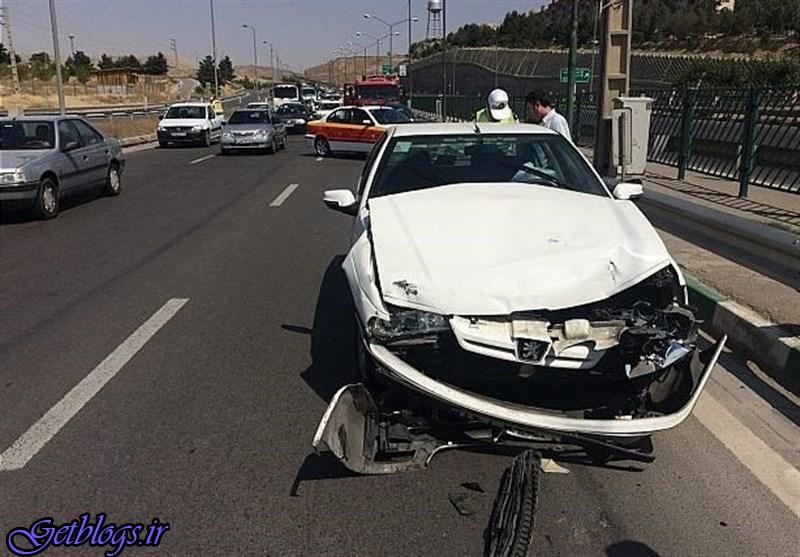 تصاویر) + تصادف شدید پژو پارس و تیبا در بزرگراه بابایی (