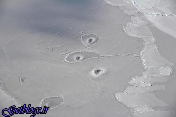 عکاسی از حفره های یخی در قطب شمال