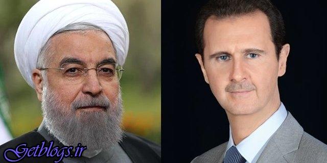 آمادهایم در امر بازسازی سوریه با تمامی امکانات در کنار شما باشیم / پیام روحانی به بشار اسد