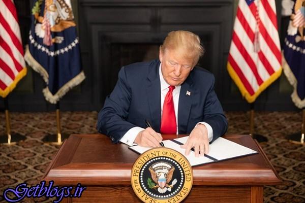ترامپ فرمان اجرایی بازگشت تحریمهای کشور عزیزمان ایران را امضاء کرد