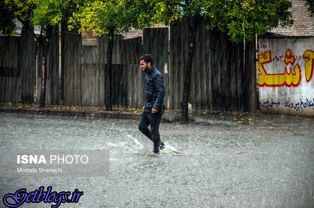 افزایش دمای 7 درجهای در سواحل دریای خزر بارش شدید باران در ساری ، بار
