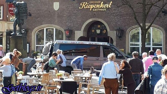 حمله وحشیانه ماشین به مشتریان رستورانی در آلمان