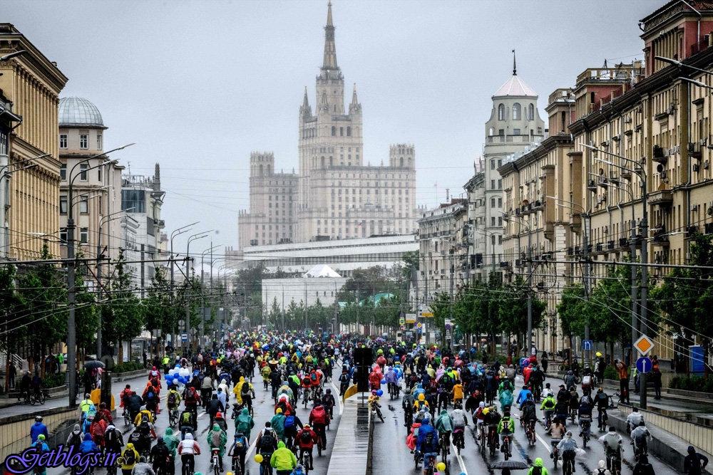 رژه دوچرخه ها در مسکو