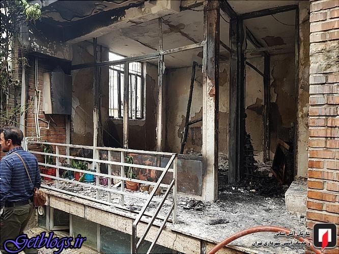 آتش، منزل مسکونی قدیمی را خاکستر کرد