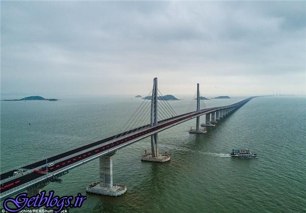 تصاویر) + بهرهبرداری از طولانیترین پل دریایی دنیا (