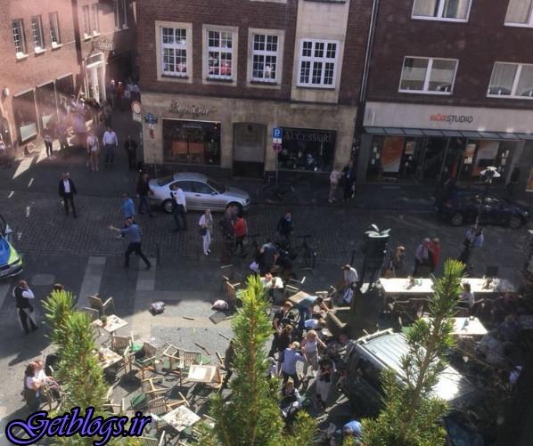 ۴ کشته و ۲۰ زخمی ، حمله یک ماشین به عابران در «مونستر» آلمان