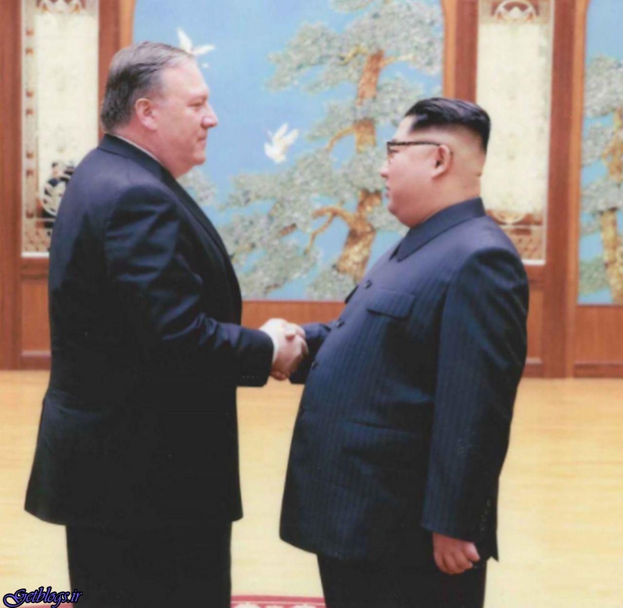 انتشار تصویرهای دیدار مایک پومپئو و رهبر کره شمالی